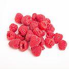 Red Raspberries on White by dbvirago