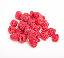 Red Raspberries on White by dbvirago