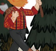 Woodie in the Woods Sticker