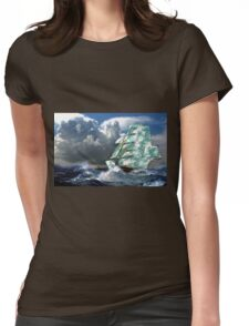 A Cloud of Sails in Rough Seas Womens Fitted T-Shirt
