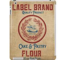 Vintage Burlap Like Flour Sack iPad Case/Skin