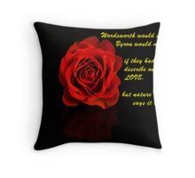 a Rose and a Prose Throw Pillow
