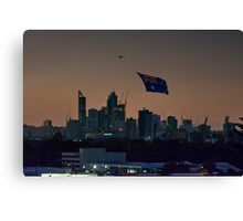 Flying the flag Canvas Print