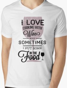 Quote - Wine, Wine, Wine...and food!! Mens V-Neck T-Shirt