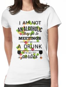 Quote - AA Alcholic Womens Fitted T-Shirt