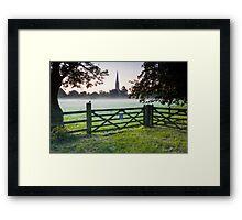 Salisbury cathedral at dawn Framed Print