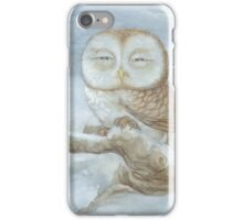 Sleepy Owl iPhone Case/Skin
