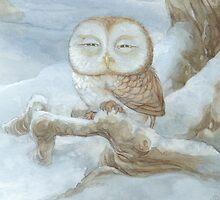 Sleepy Owl by JamesBrowneArt
