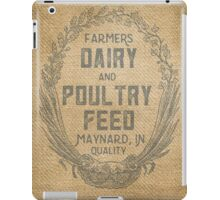Vintage Burlap Style Dairy Poultry Feed Sack Design iPad Case/Skin