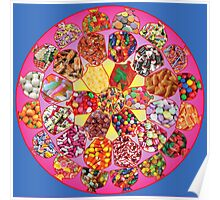 Fabulous Fifties Candy Mandala Poster
