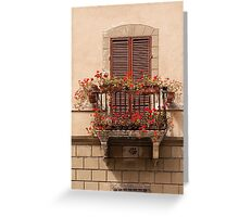 Sienese Window Greeting Card