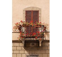 Sienese Window Photographic Print