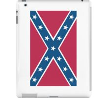 Confederate, Southern Cross, Rebel, Dixie, Flag, Portrait, Pure & Simple, pre USA iPad Case/Skin