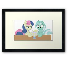 Lyra and Bon Bon Framed Print