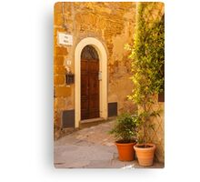 Pienza Doorway Canvas Print