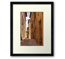 Streets of Pienza Framed Print