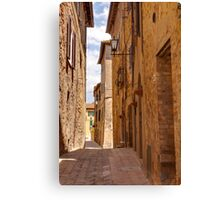 Streets of Pienza Canvas Print