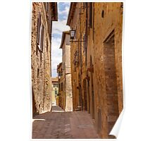 Streets of Pienza Poster