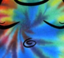 Buddha Tye Dye Sticker