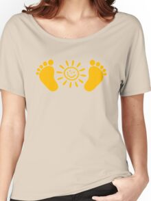 Baby feet with sun Women's Relaxed Fit T-Shirt