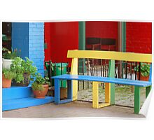 Colourful Bench Poster