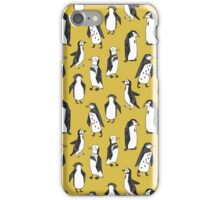 Penguins - Mustard by Andrea Lauren iPhone Case/Skin