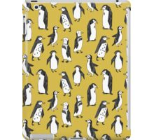 Penguins - Mustard by Andrea Lauren iPad Case/Skin