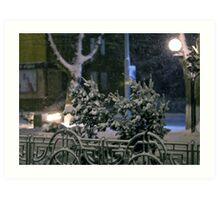Winter Bench 4 Art Print