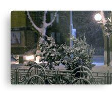 Winter Bench 4 Metal Print