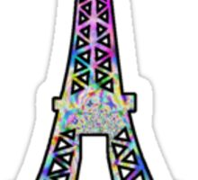 Eiffel Tower Trippy Sticker