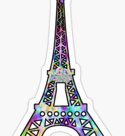 Eiffel Tower Trippy Sticker