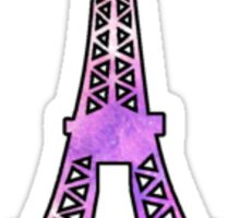 Eiffel Tower Galaxy Sticker