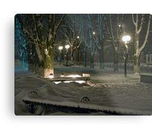 Winter Bench 5 Metal Print