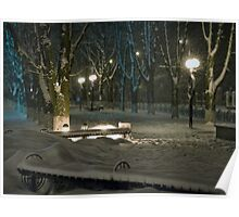 Winter Bench 5 Poster