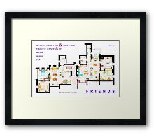 FRIENDS Apartment's Floorplans - V.2 Framed Print