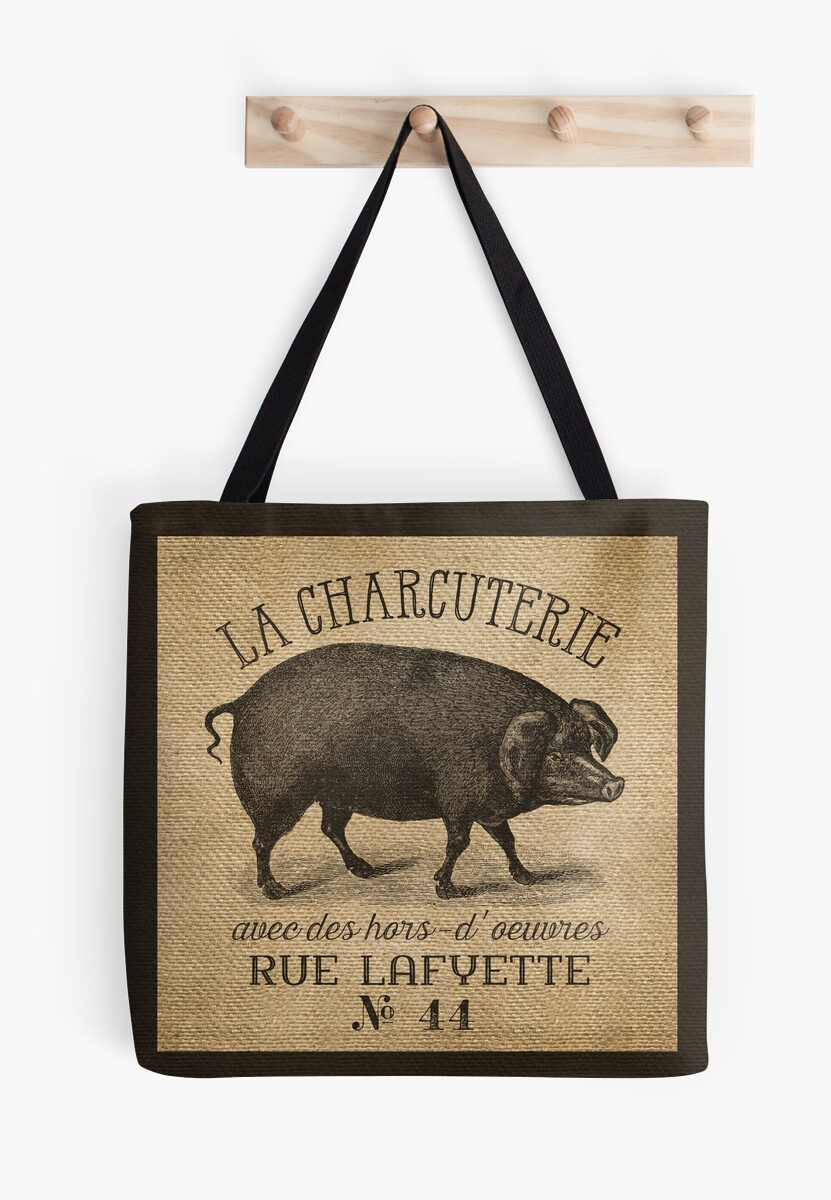 http://www.redbubble.com/people/marceejean/works/13792229-burlap-french-pig-advertisement?p=tote-bag&size=large