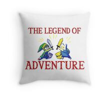 The Legend of Adventure  Throw Pillow