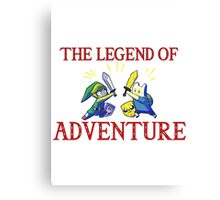 The Legend of Adventure  Canvas Print