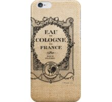 Vintage Burlap Ticker Look iPhone Case/Skin