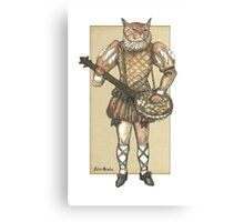 Banjo Cat Canvas Print