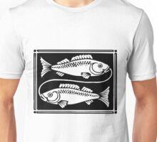 Pisces the Fish woodcut Unisex T-Shirt
