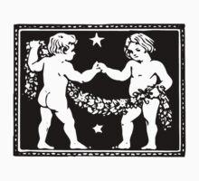 Gemini the Twins Woodcut by Pixelchicken