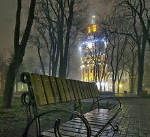 Water Tower At Night 3 by fine