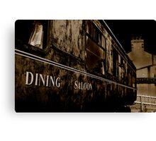 Dining Saloon Car Downpatrick Canvas Print