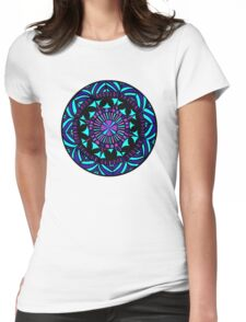 Papercut circle1colour Womens Fitted T-Shirt