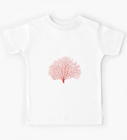red sea fan coral silhouette Kids Tee