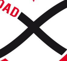 Dad, red heart with infinity sign, father's day card, sticker Sticker
