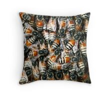 Wild Arabian Dwarf Honeybee  Throw Pillow