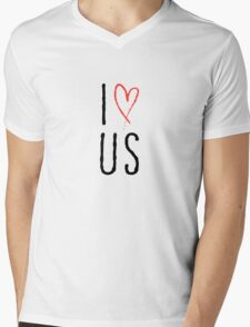 I love us with red heart Mens V-Neck T-Shirt