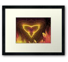 Burning desire Framed Print